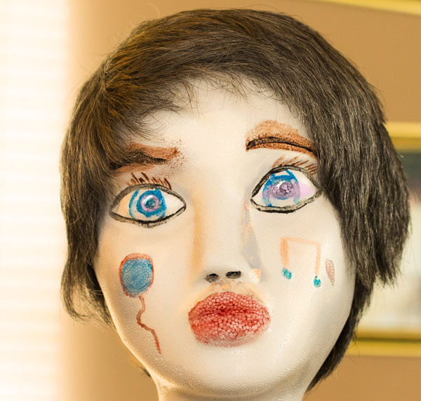 painted doll face x-
