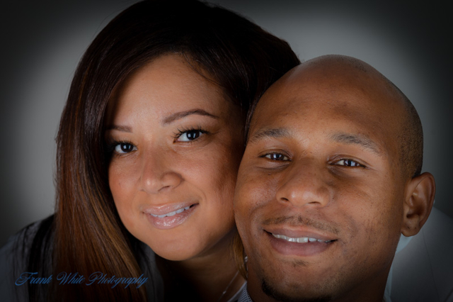Headshot of couple by Frank White Photography